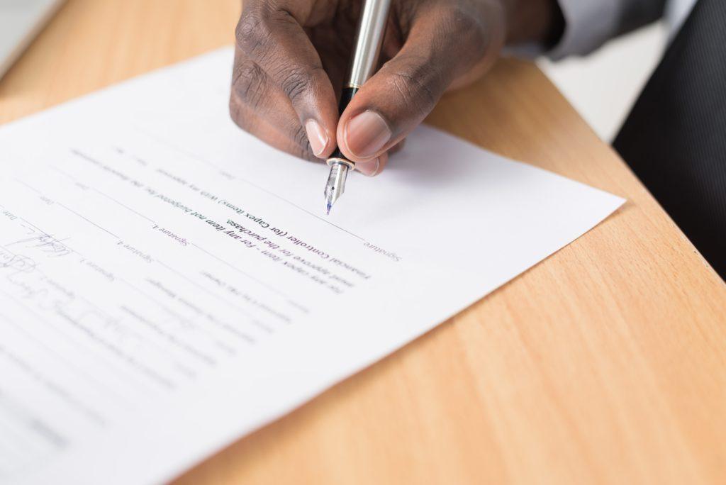Signature du bail professionnel