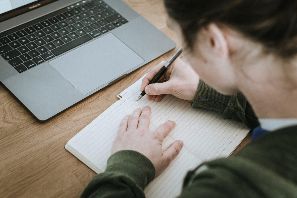 Avoir du succès - Inscrire les prochaines actions dans un carnet